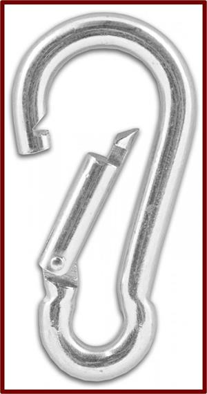 Snap Hooks or Carabiners for Hanging Netting | HeartlandNets.com